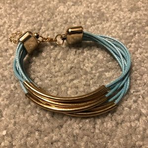Jewelry - Blue and gold bracelet